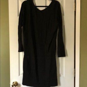 WHBM black sweater dress